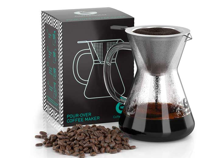 Coffee Gator Pour Over Stainless Steel Brewer