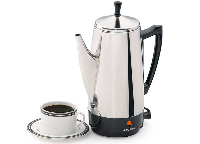 Presto 02811 12-Cup Coffee Percolator – Features
